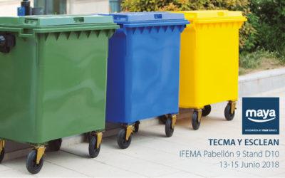 Grupo Maya presenta este año en TECMA y ESCLEAN el contenedor de doble tapa 1100 litros Weber