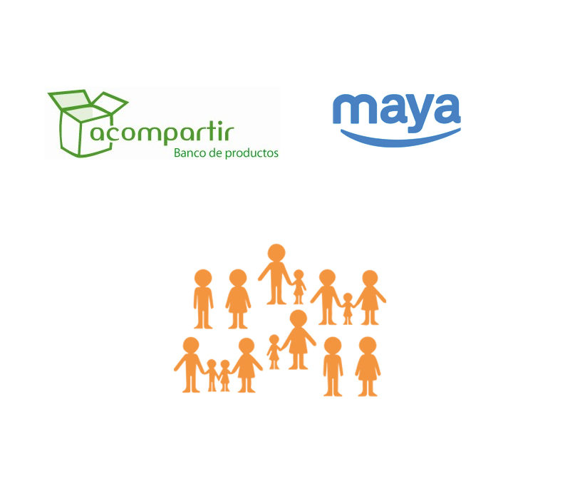 Maya colabora con Acompartir en el día Internacional de la erradicación de la pobreza