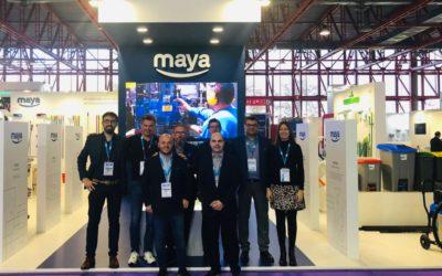 Gran éxito de Maya en Hygienalia-Pulire 2019